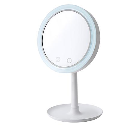 NuBrilliance Beauty Breeze Lighted Mirror with Fan & 5x Magnification