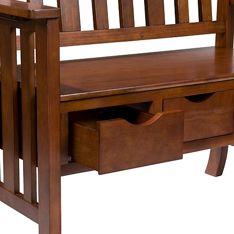 Oak Country Bench With 3 Drawers 6221835 Hsn