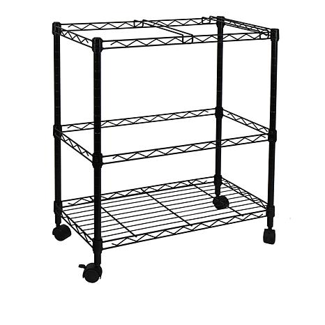 Oceanstar 2-Tier Rolling File Cart