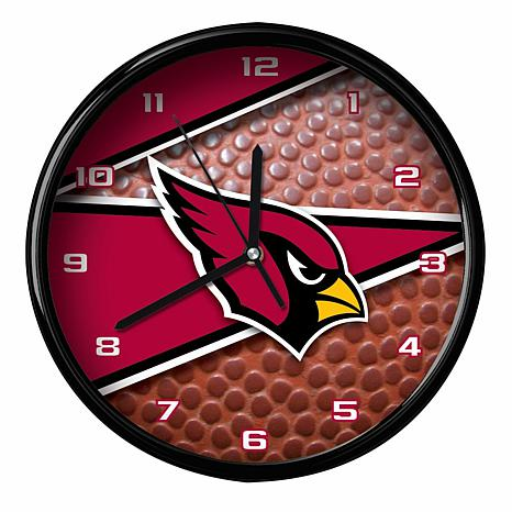 Officially Licensed Arizona Cardinals Team Football Clock