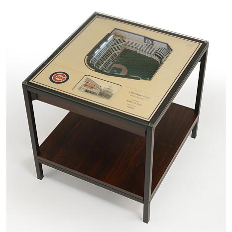 Officially Licensed MLB 25-Layer StadiumViews End Table - Chicago Cubs