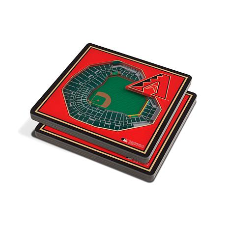 Officially Licensed MLB 3D StadiumViews Coasters -Arizona Diamondbacks