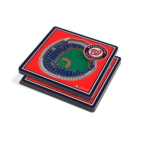 Officially Licensed MLB 3D StadiumViews Coasters-Washington Nationals