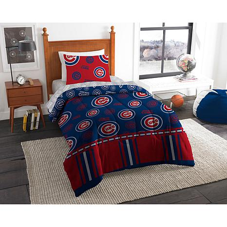 new! Officially Licensed MLB Twin Bed in a Bag Set - Chicago Cubs