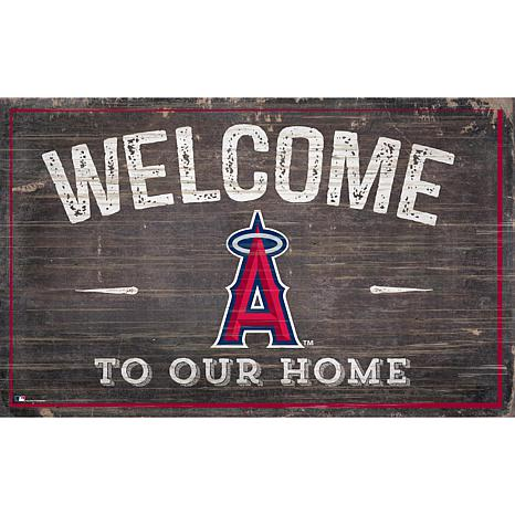 Officially Licensed MLB Welcome to our Home Sign - LA Angels