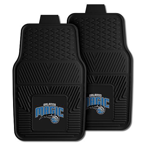 "Officially Licensed NBA 2pc Car Mat Set 17"" x 27"" - Orlando Magic"