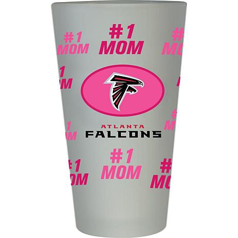 "Officially Licensed NFL ""#1 Mom"" Frosted Pint Glass - Atlanta Falcons"