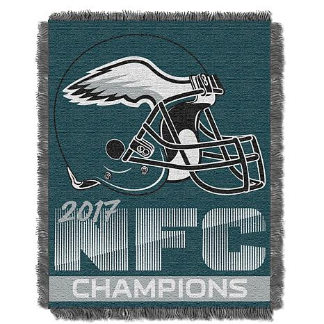 Officially Licensed NFL 2017 NFC Champs Jacquard Throw - Eagles