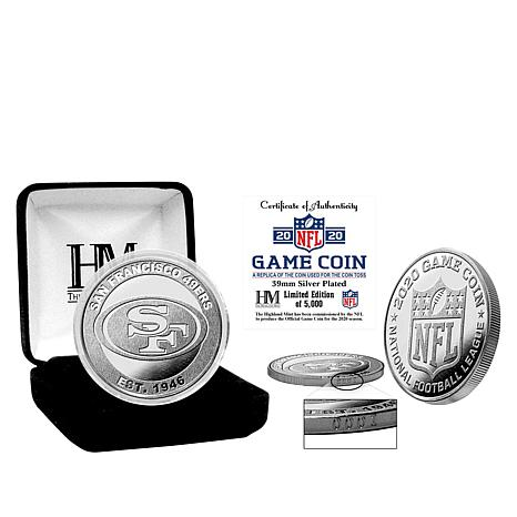 Officially Licensed NFL 39mm Silver Game Coin