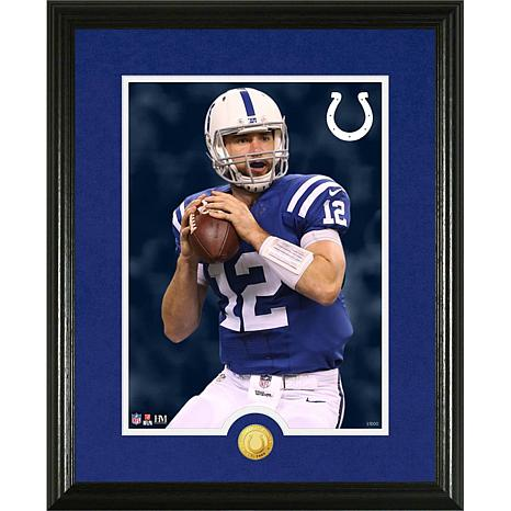 Officially Licensed NFL Andrew Luck Gold Coin Canvas Photo Mint