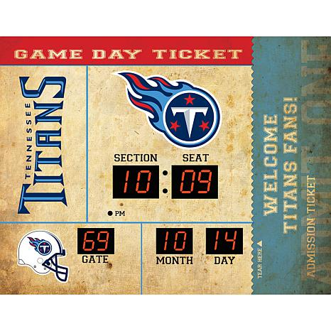 Officially Licensed NFL Bluetooth Scoreboard Wall Clock - Titans