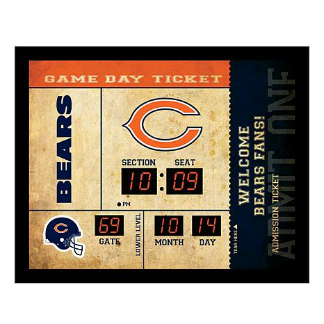 Officially Licensed NFL Bluetooth Wall Clock - Bears