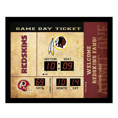 Officially Licensed NFL Bluetooth Wall Clock - Redskins