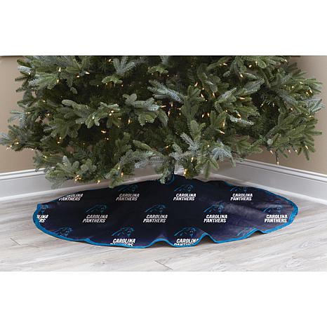 Officially Licensed NFL Christmas Tree Skirt - Carolina Panthers