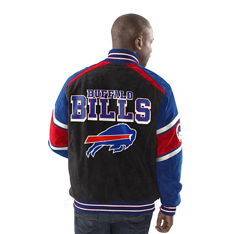 a746617fb Officially Licensed NFL Colorblocked Suede Jacket by Glll - Bills - 8709484