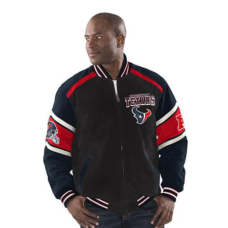 cheaper 813e3 1a691 Officially Licensed NFL Colorblocked Suede Jacket by Glll - Houston Texans