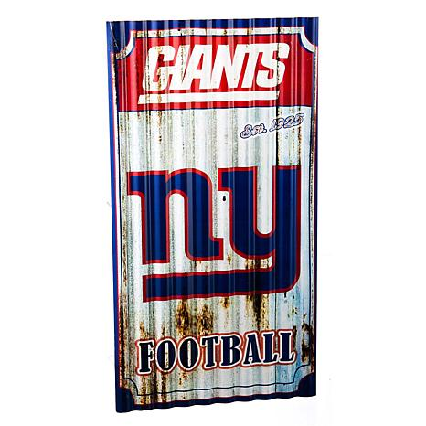 Officially Licensed NFL Corrugated Metal Weathered Wall Sign - Giants
