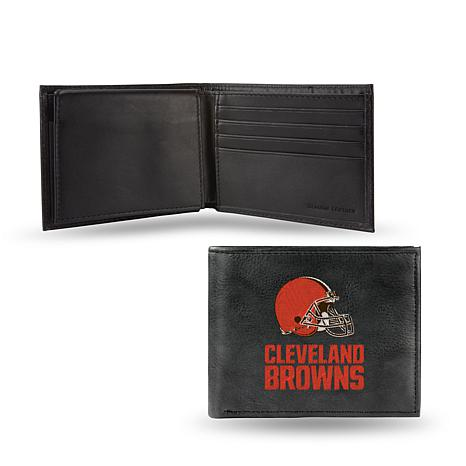 Officially Licensed NFL Embroidered Leather Billfold - Browns