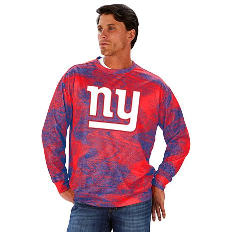 Zubaz Officially Licensed Mens NFL Mens Classic Logo Crew Tee Team Color