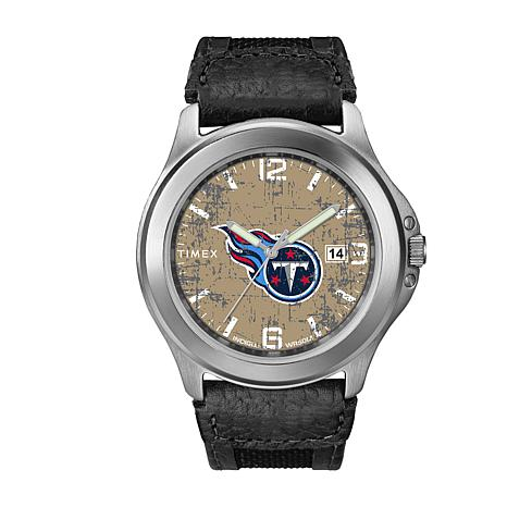 aa2aee03 Officially Licensed NFL Men's Old School Watch By Timex - Titans