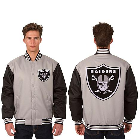 Officially Licensed NFL Poly-Twill Jacket with  Logo Patches