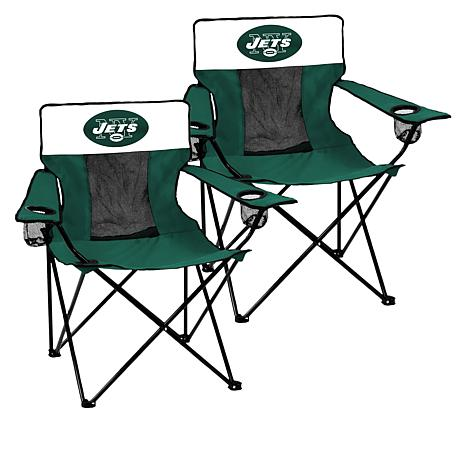 Groovy New Officially Licensed Nfl Portable Elite Chair 2 Pack Jets Beatyapartments Chair Design Images Beatyapartmentscom