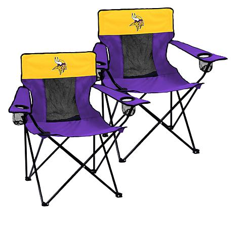 Officially Licensed NFL Portable Elite Chair 2-pack