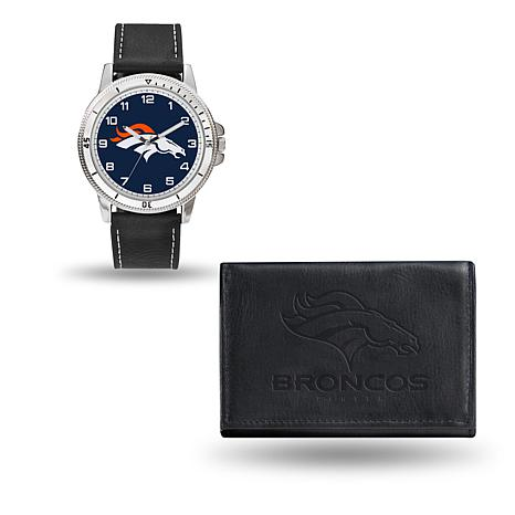 Officially Licensed NFL Team Logo Watch and Wallet Combo Gift Set i...