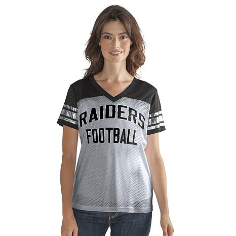 025d546d Officially Licensed NFL Women's Fan Club Mesh Tee by Glll - Raiders