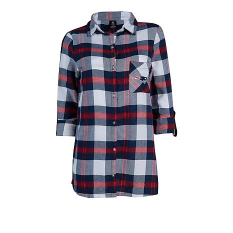f3bcbeed Officially Licensed NFL Women's Plaid Night Shirt by Concepts Sport -  Patriots