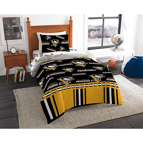 Officially Licensed NHL Twin Bed in a Bag Set - Pittsburgh Penguins