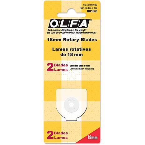 Olfa Rotary Blade Refill - 18mm/2-pack
