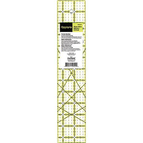 "Omingrip Non-Slip Quilter's Ruler - 12-1/2"" x 2-1/2"""