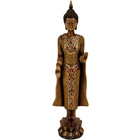 "Oriental Furniture 20"" Standing Thai Buddha Statue"