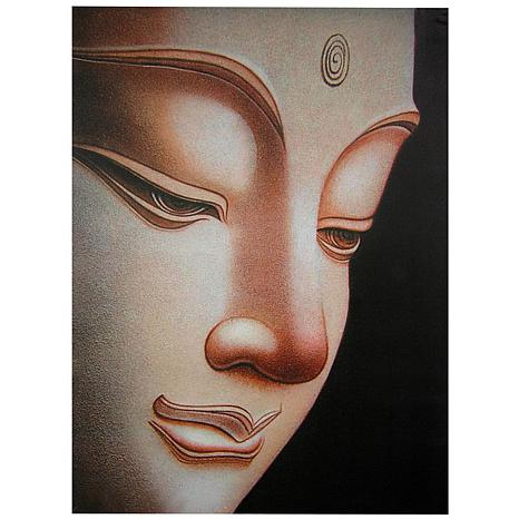 Oriental Furniture Buddha Canvas Wall Art