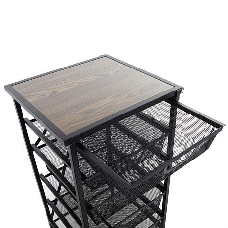 ... Origami 5 Drawer Kitchen Cart With Wooden Top ...