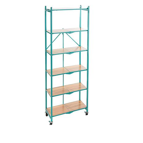 origami 6tier rack with wooden shelves 8500639 hsn