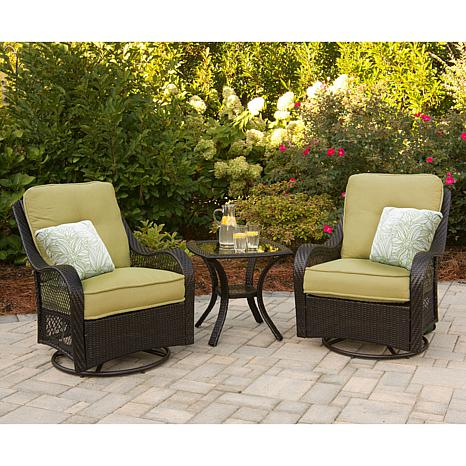 Orleans 3 piece outdoor furniture collection 7461255 hsn for Outdoor furniture 3 piece