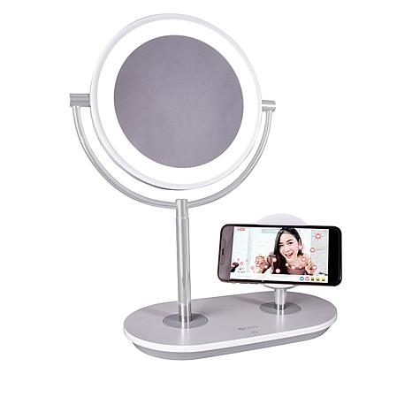 OttLite Makeup Mirror with Wireless Charging Stand