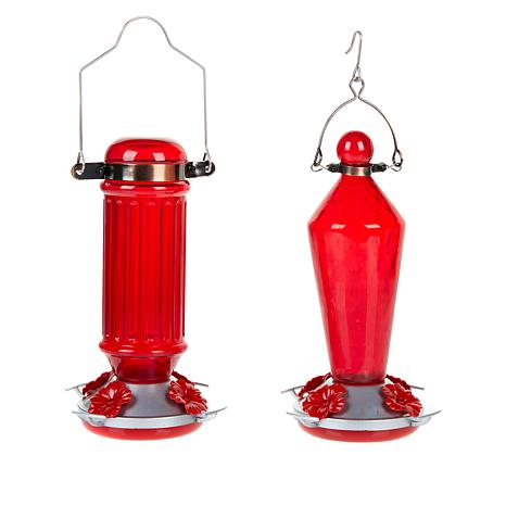 Our Smart Solutions Glass Hummingbird Feeder 2-pack