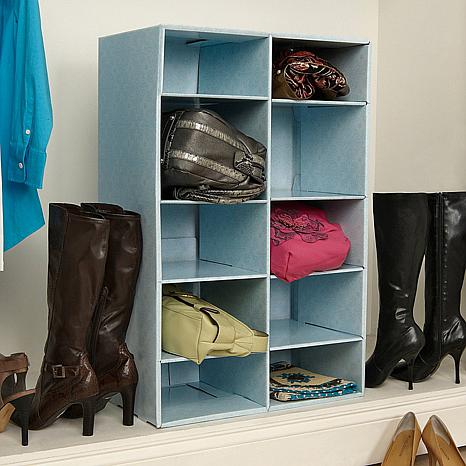 Park a purse closet organizer with 10 cubbies 6275316 hsn - Closet organizer for purses ...