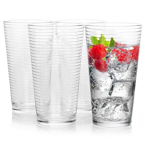 Pasabahce Doro 4-Piece 16.75 oz Cooler Glass Set, Clear