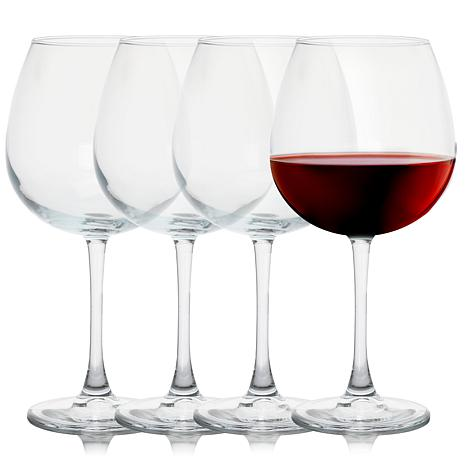 Pasabahce Enoteca 4 Piece 26 Ounce Balloon Wine Glass Set, Clear