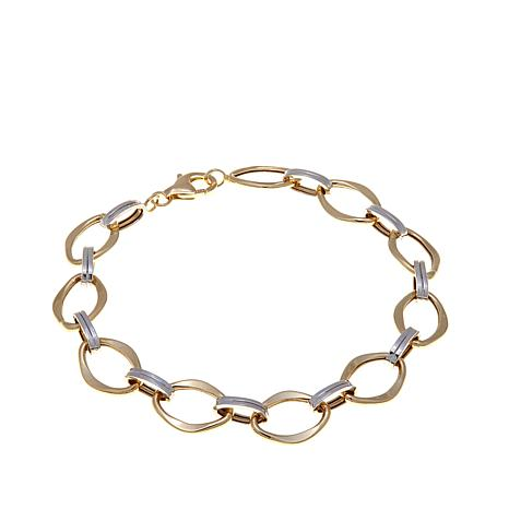 "Passport to Gold 14K 2-Tone Fancy Link 7-1/2"" Bracelet"