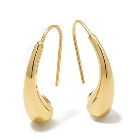 Passport to Gold 14K Curved Electroform Drop Earrings
