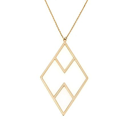 Passport to Gold 14K  Diamond-Shaped Drop Necklace