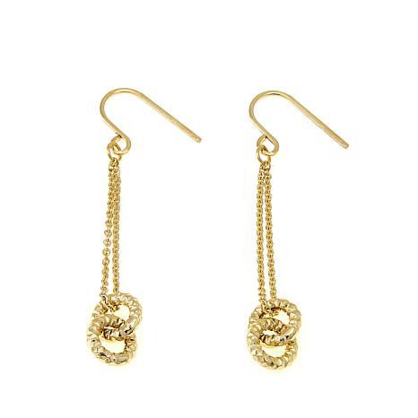 Passport to Gold 14K Double Circle Drop Earrings