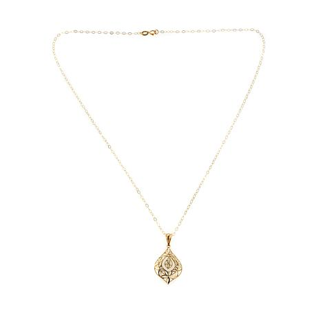 "Passport to Gold 14K Filigree Pendant with 18"" Chain"