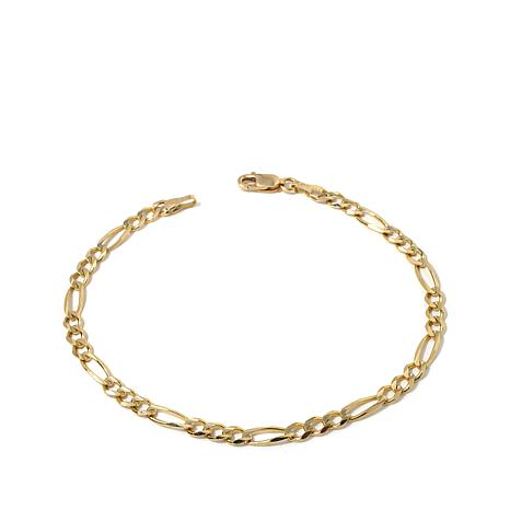 "Passport to Gold 14K Gold 3.8mm Figaro-Link 8"" Bracelet"