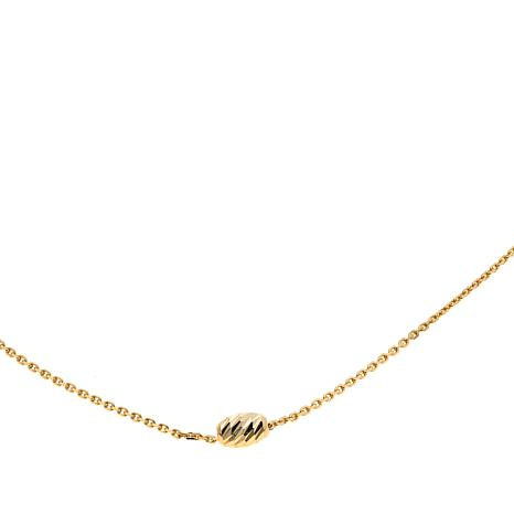 "Passport to Gold 14K Gold ""Mooncut"" Bead 16"" Necklace"